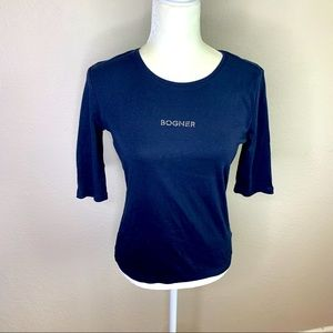 Bogner spell out half sleeve knit shirt